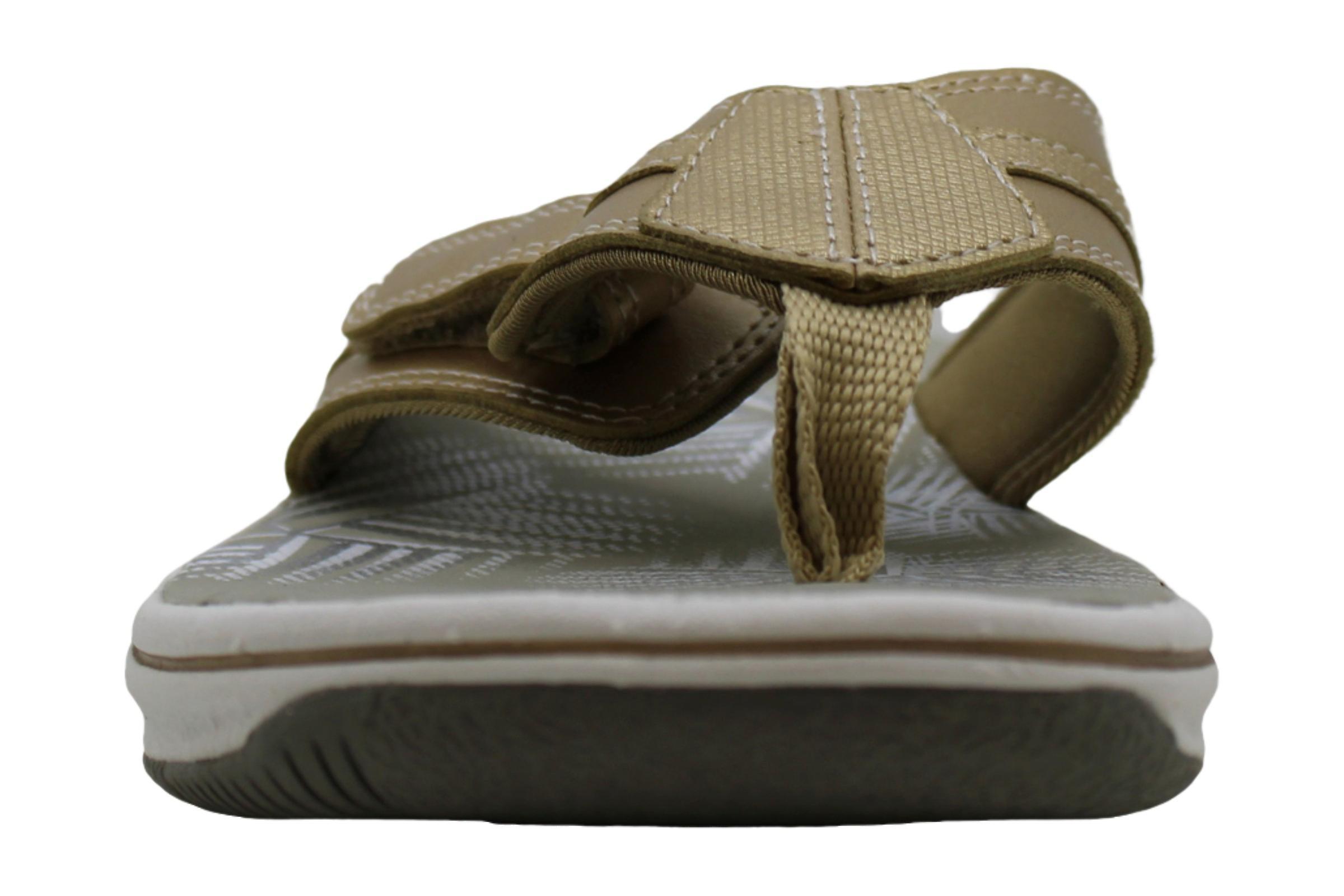 CLARKS Womens Brinkley Bree Faux Leather Thong Flip-Flops Yellow 6 Medium (B,M)