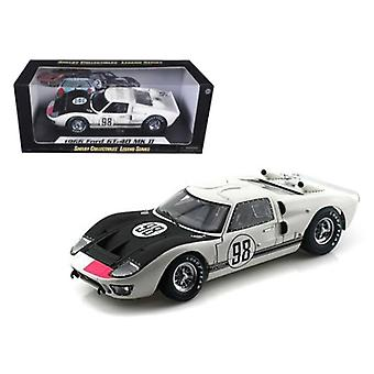 1966 Ford GT-40 MK 2 #98 White 1/18 Diecast Car Model by Shelby Collectibles