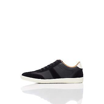 Amazon Brand - find. Men's Retro Trainer Sneaker, (Black), US 9