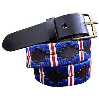 Carlos diaz kids unisex  brown leather  polo belt cdkupb12