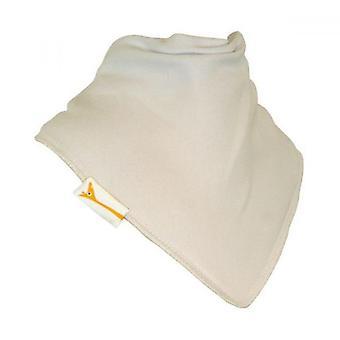 White plain bandana bib