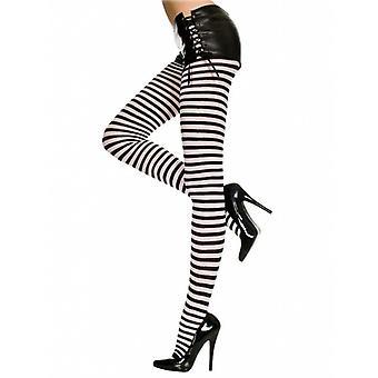 Music legs- gothic stripe - womens tights