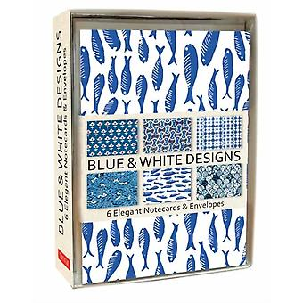Blue and White Note Cards