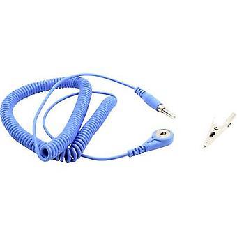 Quadrios ESD earth cable 1.80 m 4 mm stud and socket, Plug, Alligator clip