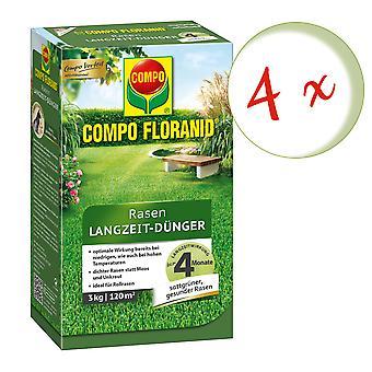 Sparset: 4 x COMPO Floranid® سماد الحديقة طويلة الأجل، 3 كجم