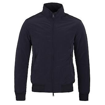 Emporio Armani mørkeblå polstret Harrington jakke