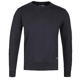 Replay Garment Dyed Black Logo Sweatshirt