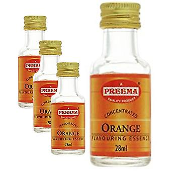 4 x 28ml Orange Essence Bakning Aroma Smak Koncentrerade Kakor Cookies