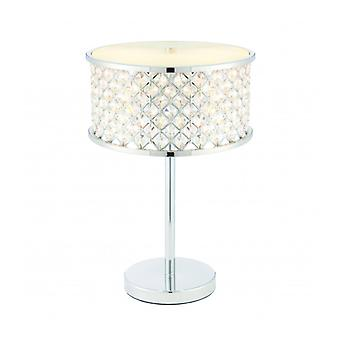 Hudson Lamp, Chrome And Crystal