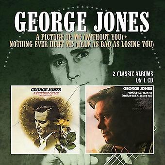 George Jones - billede af mig (uden du) / intet nogensinde såre mig (halvt så slemt som at miste du) [CD] USA import