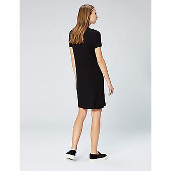 Daily Ritual Women-apos;s Supersoft Terry Short-Sleeve Open Crew, Noir, Taille Moyenne