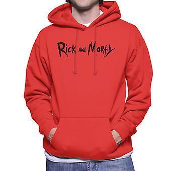 Rick og Morty klassisk svart logo Herre ' s Hettegenser