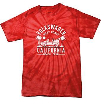 Volkswagen West Coast California Black Text Women's Tonal Spider T-Shirt