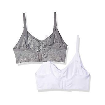 Marke - Arabella Frauen's Pflege nahtlose Bralette 2 Pack, Heather Gre...