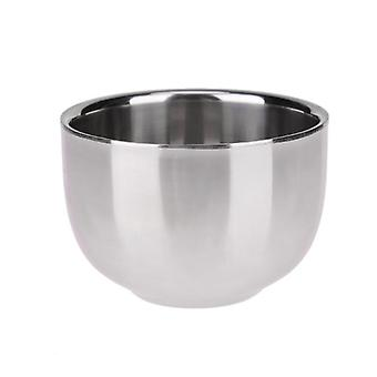 Double Layer Stainless Steel - Mannen scheren, Zeep Mok Bowl