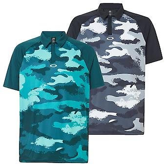 Oakley Hombres Fairway Camo impresión transpirable UV malla Golf Polo Camisa