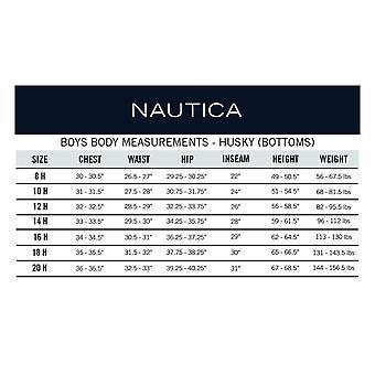 Nautica Husky Boys-apos; Pantalon avant plat uniforme, noir, X-Large/20 - Husky
