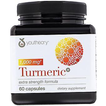 Youtheory, Turmeric, Extra Strength Formula, 1,000 mg, 60 Capsules