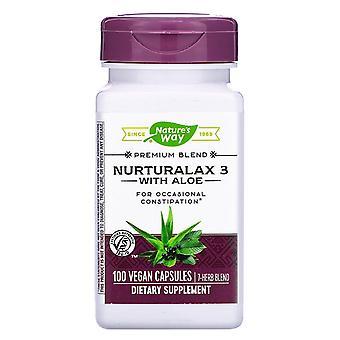 Nature's Way, Nurturalax 3 mit Aloe, 100 Vegan Kapseln