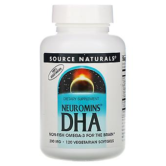 Source Naturals, Neuromins DHA, 200 mg, 120 Vegetarian Softgels