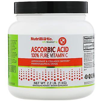 NutriBiotic, Immuniteit, Ascorbinezuur, 100% pure vitamine C, kristallijn poeder, 2