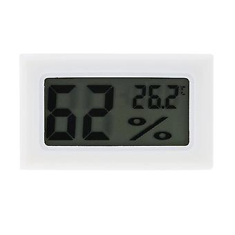 Mini Electronic Thermometer Display Alarm Clock White