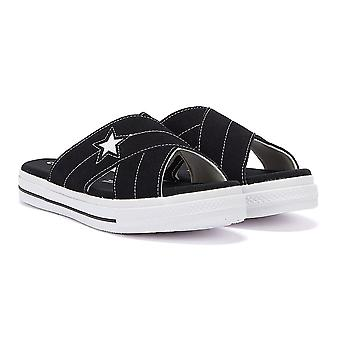 Converse 一星女黑 / 白苏德滑凉鞋
