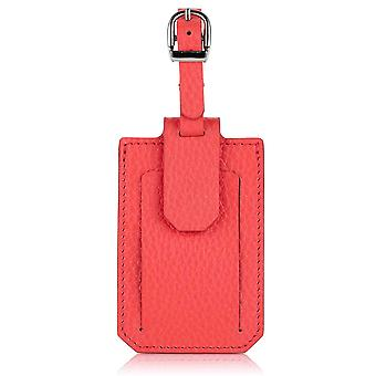 Jaipur Pink Richmond Luxury Leather Luggage Tag