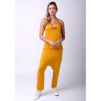 Jools tricot jumpsuit in goud