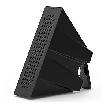 Portable Mobile Phone Loudspeaker Speaker Holder Sound Amplifier Bracket (black)
