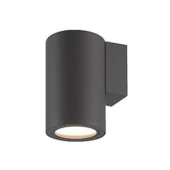 Inspirert Mantra - Volcano - Vegg ned Lampe, 1 x E27, IP54, Grafitt