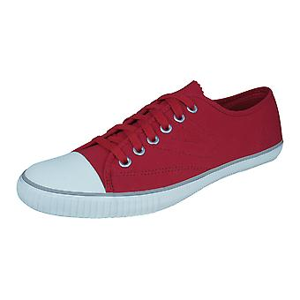 Tretorn T56 Canvas Mens Trainers / Plimsolls - Red