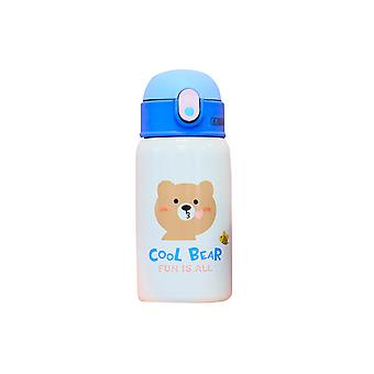 Cartoon animal thermos cup, portable children's bag bouncing stainless steel water cup
