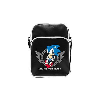 "Sonic The Hedgehog ""Too slow"" Messenger Bag - Shoulder Bag 27x20x7cm"