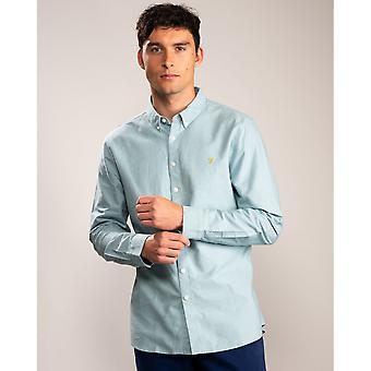 Farah Farah Brewer Slim långärmad Button Down Mens skjorta