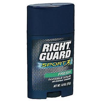 Right Guard Anti-Perspirant Sports Deodorant, Invisible Solid Fresh 1.8 oz