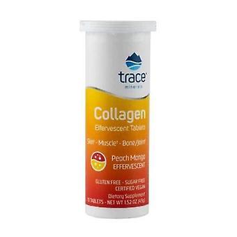 Trace Mineralen Collageen Bruisen tabletten, Perzik Mango, 10 Tabbladen