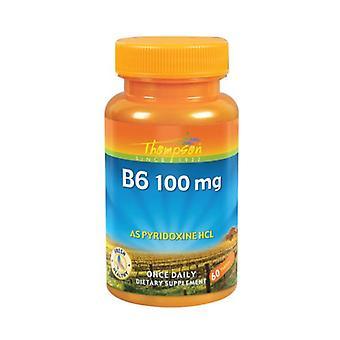 Thompson Vitamine B-6, 100 MG, 60 onglets