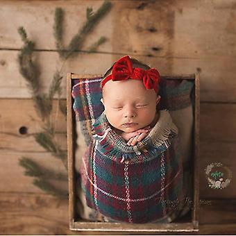 Newborn Photography Prop- Vintage Neutralny Koc, Kosz fotograficzny Miękki