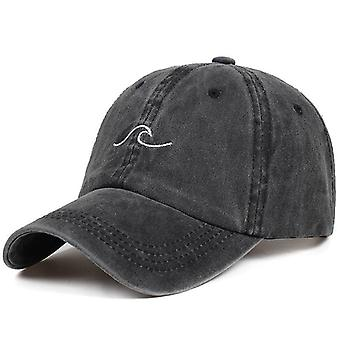 Women Men Sea Wave Baseball Cap, High-quality Unisex Cotton Dad Hats, Sports