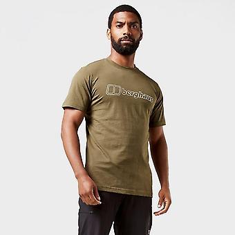 Uusi Berghaus Men's Ääriviivat Logo Lyhythihainen T-paita Vihreä