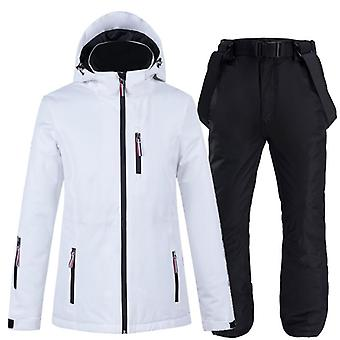 Men Women Ski-jacket With Pants, Lovers Snowboard Trousers