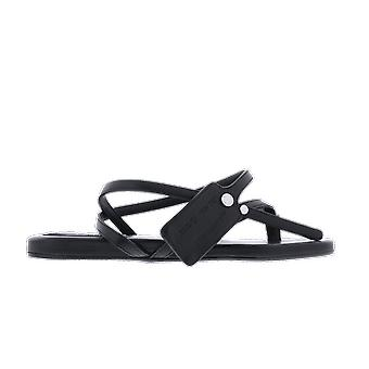 OFF WHITE Flat Sandal Black FlatSandal shoe