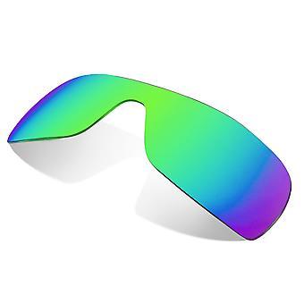 عدسات بديلة لـ Oakley Batwolf نظارات شمسية مضادة للخدش مرآة خضراء