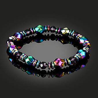 Ethnic Black Gallstone Hand-woven Bracelet Retro Colored Beaded Bracelet