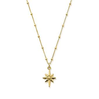 ChloBo Gold Bobble Chain Lucky Star Necklace GNBB2087