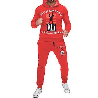 Мужской беговой костюм Повседневный спортивный костюм Тренажерный зал Спортивный комплект Толстовка и спортивные штаны Мухаммед Али