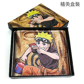 PU leather Coin Purse Cartoon anime wallet --Naruto # 733