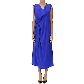 Yohji Yamamoto Ezgl123017 Women's Blue Cotton Dress