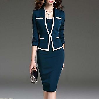 Women's مجموعة الدعوى, الخريف مكتب ارتداء سترة تنورة وسترة, زائد الحجم